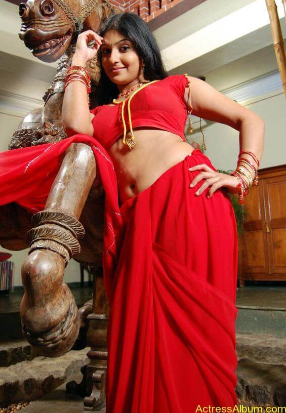 ACTRESS MONICA SEXY RED BLOUSE PHOTO COLLECTIONS1
