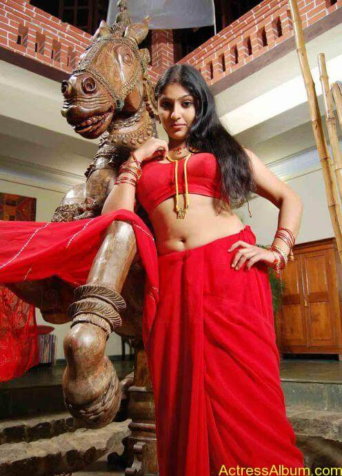 Actress Monica Sexy Red Blouse Photo Collections - Actress Album-8876
