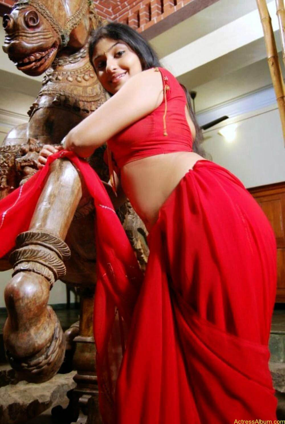 ACTRESS MONICA SEXY RED BLOUSE PHOTO COLLECTIONS4
