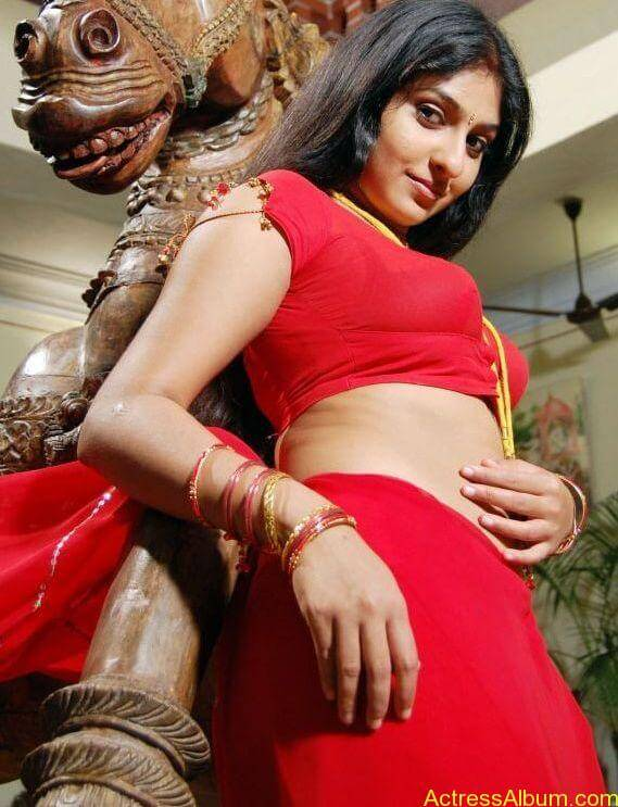 ACTRESS MONICA SEXY RED BLOUSE PHOTO COLLECTIONS5