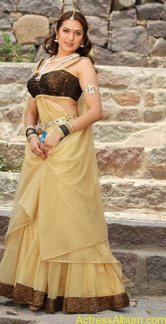 Nisha Agarwal Hot Photoshoot In Blue Saree & Blouse ...