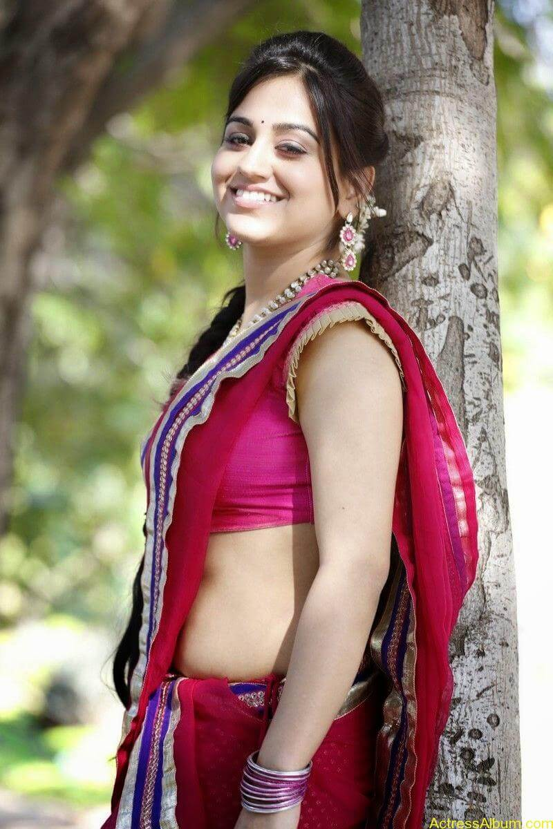Aksha Pardasany Side View Pics In Pink Saree Photos South Actress3