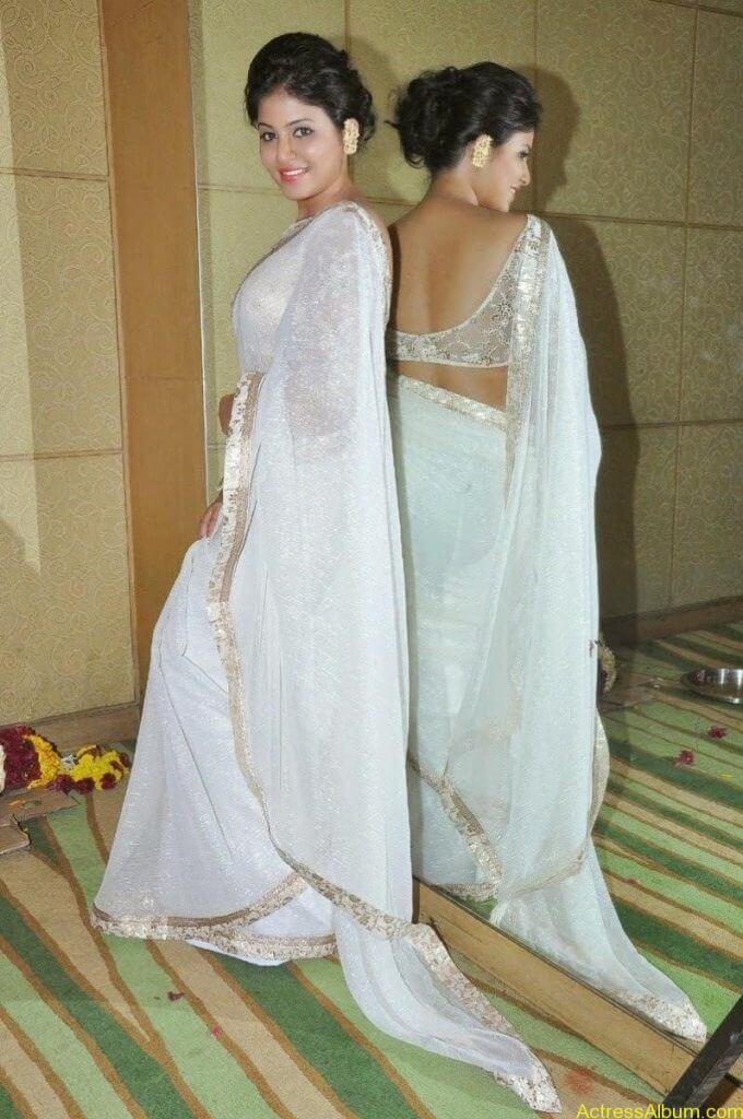 Anjali Hot Stills In Sheer Saree At Geethanjali First Look  (04)
