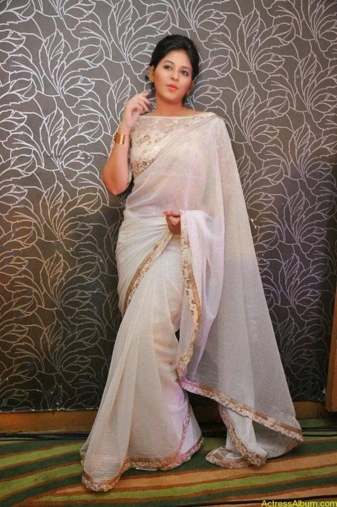 Anjali Hot Stills In Sheer Saree At Geethanjali First Look  (05)