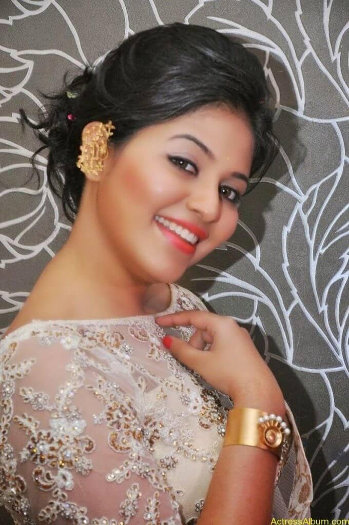 Anjali Hot Stills In Sheer Saree At Geethanjali First Look  (09)