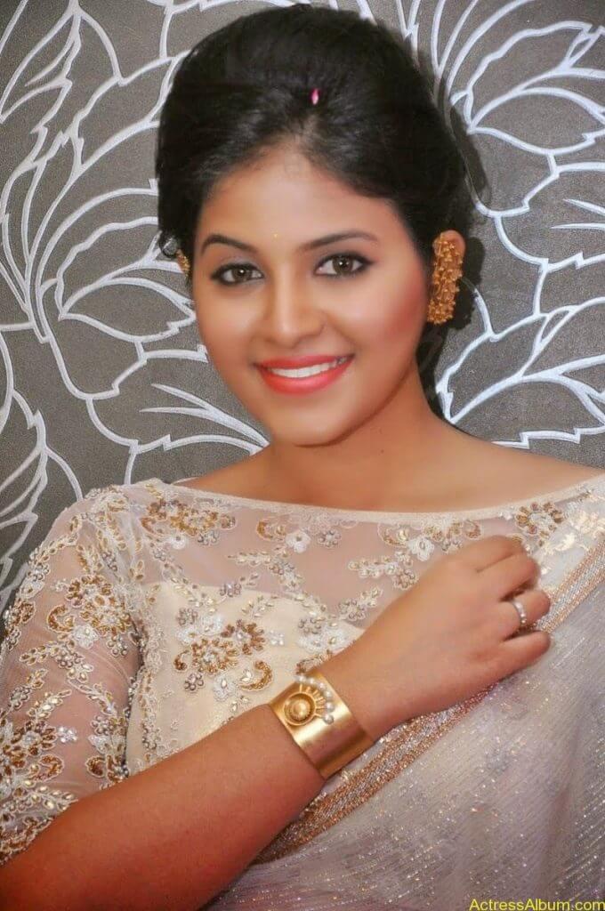 Anjali Hot Stills In Sheer Saree At Geethanjali First Look  (10)