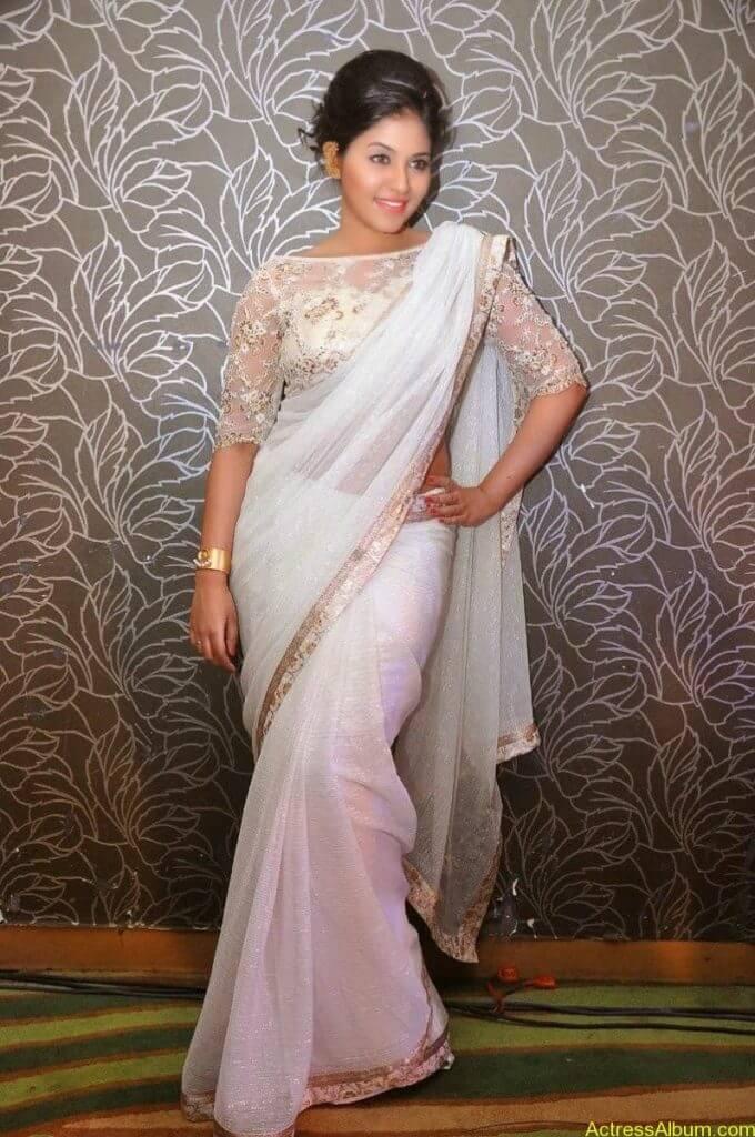 Anjali Hot Stills In Sheer Saree At Geethanjali First Look  (13)