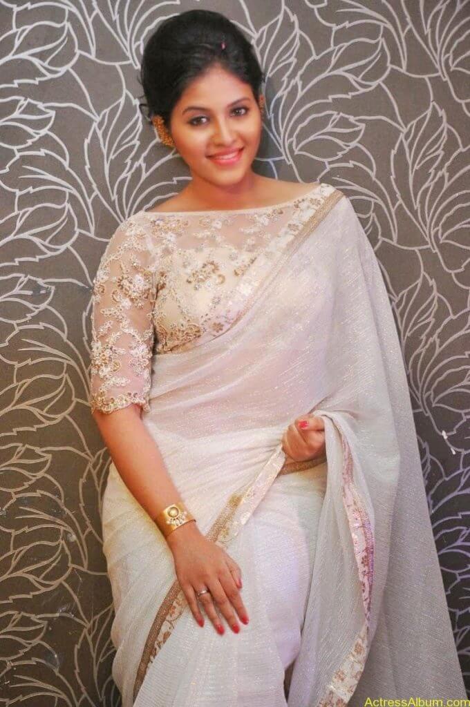 Anjali Hot Stills In Sheer Saree At Geethanjali First Look  (19)