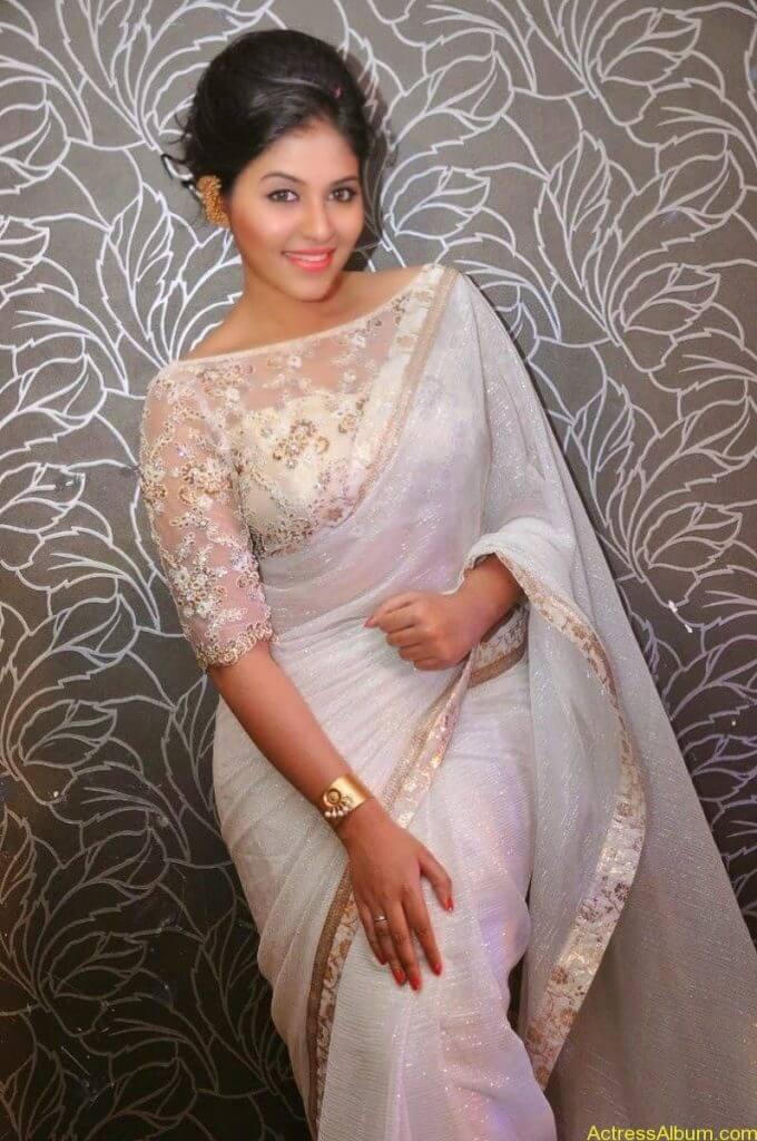 Anjali Hot Stills In Sheer Saree At Geethanjali First Look  (22)
