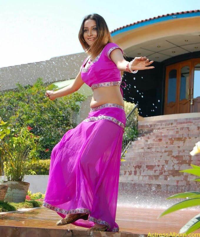 anu-vaishnavi-hot-pink-navel-6
