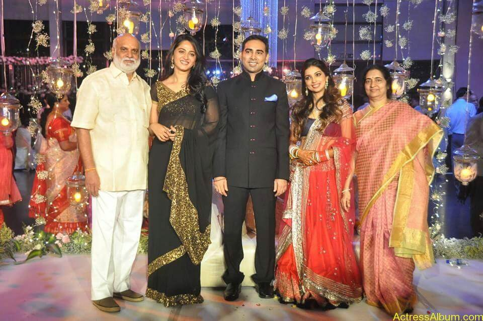 Anushka Shetty at wedding party