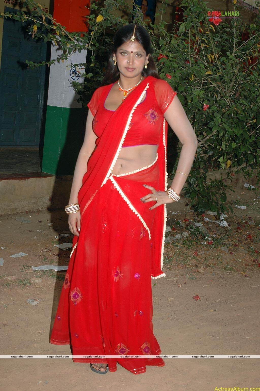 Bhuvaneshwari Hot Stills In Red Saree1
