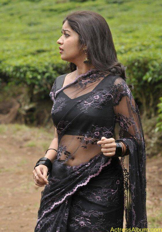 Colors Swathi hot and sexy in black saree
