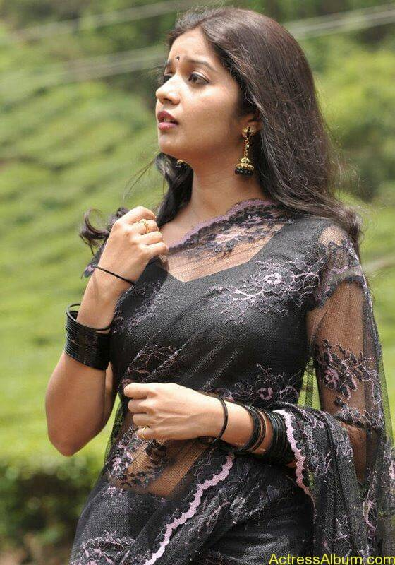 Colors Swathi hot and sexy in black saree1