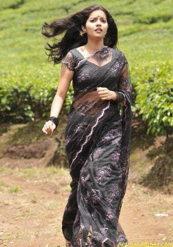 Colors Swathi hot and sexy in black saree6
