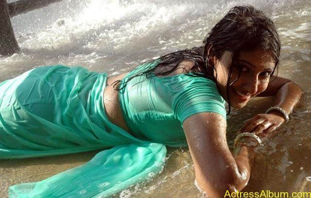 Hot Bigboobs Silanthi Monica wet in Saree (1)