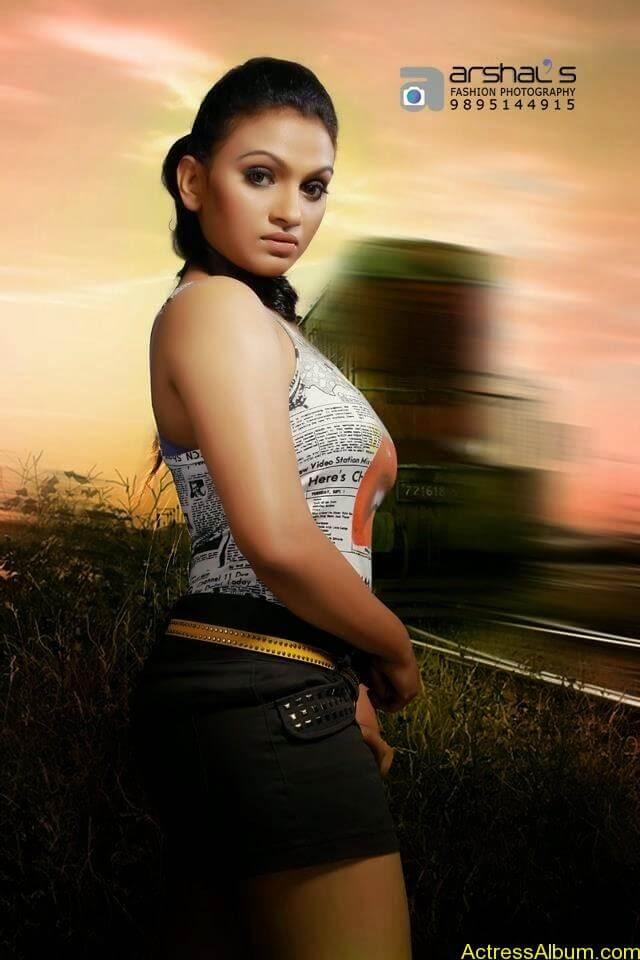 Krishna Prabha Hot Navel Photoshoot Mallu TV Film Actress2