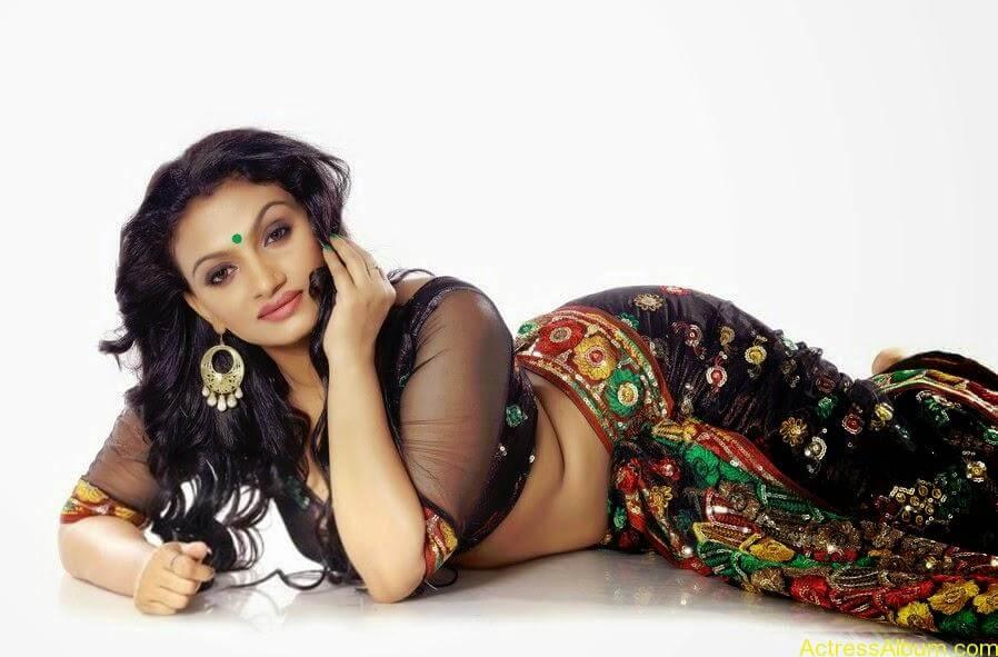 Krishna Prabha Hot Navel Photoshoot Mallu TV Film Actress3