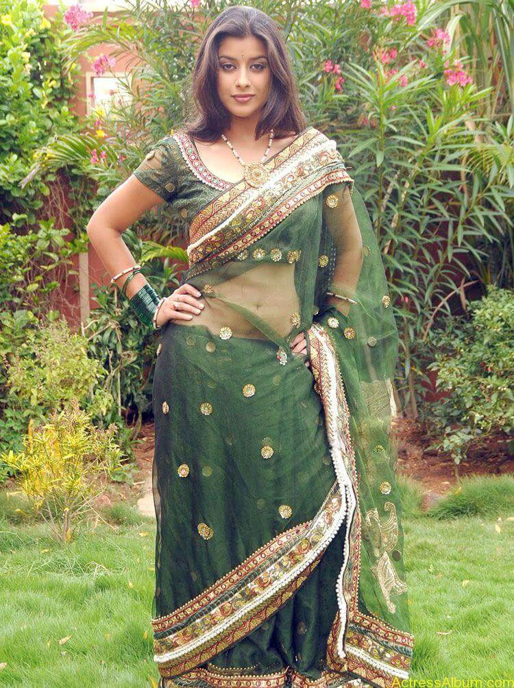 Madhurima Hot Navel Exposing in Transparent saree1