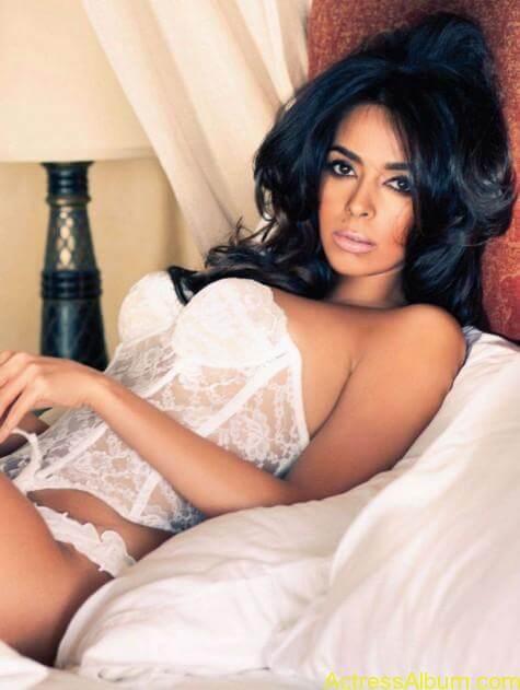 Mallika Sherawat Hot Lingerie Photoshoot in White