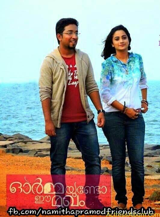 Namitha Pramod With Ormayundo Ee Mugam Team8