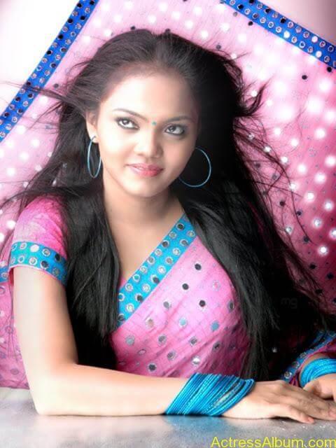 Actress Nikhisha Hot Saree Photoshoot Pics
