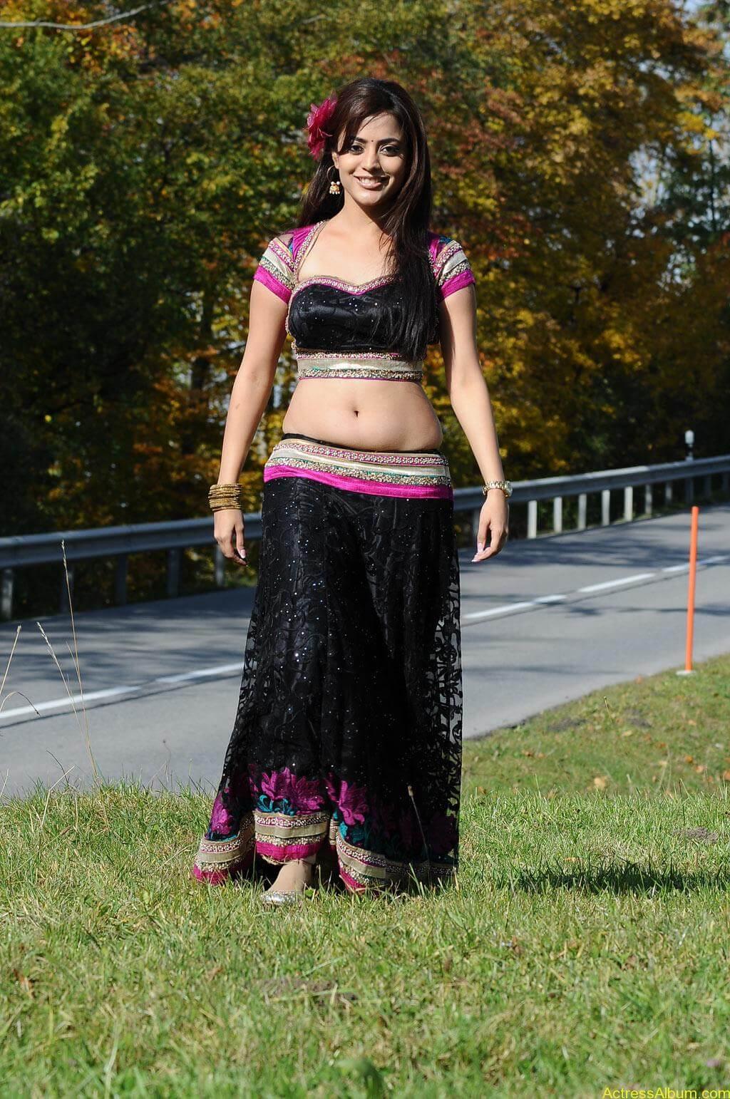 Nisha Agarwal spicy hot navel show photos1
