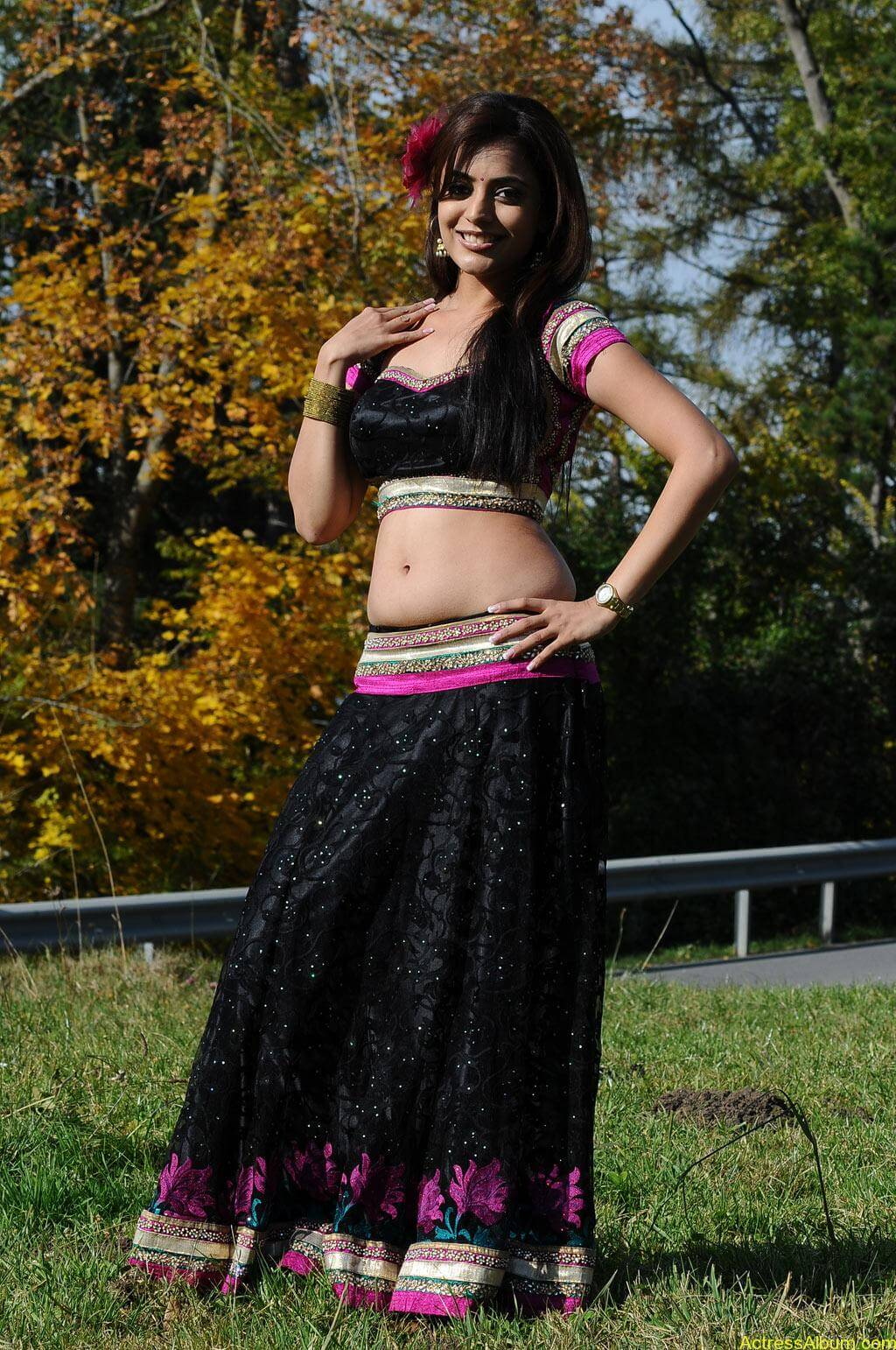 Nisha Agarwal spicy hot navel show photos4