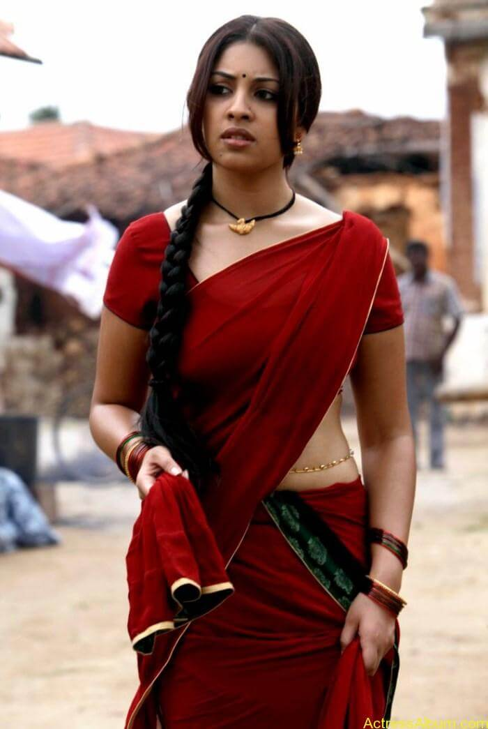 Osthi Richa Gangopadhyay Hot Red Saree Photos