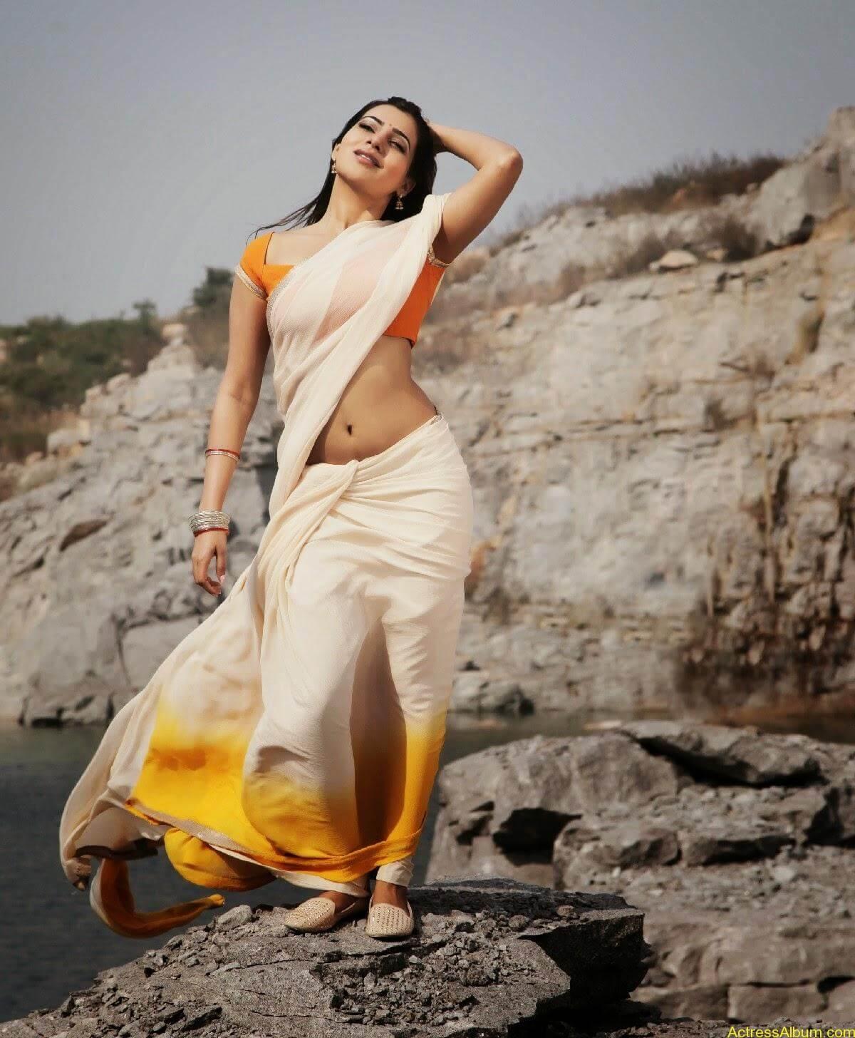 Samantha Hot Navel In Autonagar Surya Movie Stills2