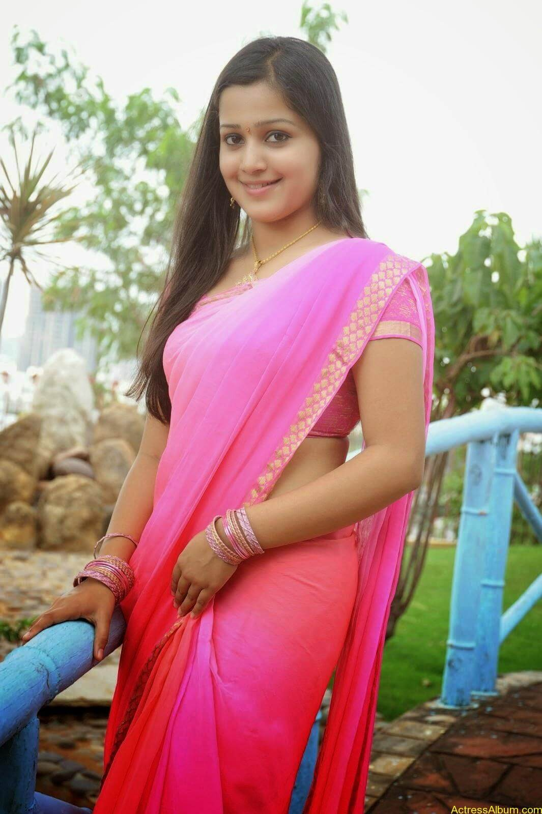 Samskruthy Shenoy In Pink Saree Hot Sexy Actress Photos1