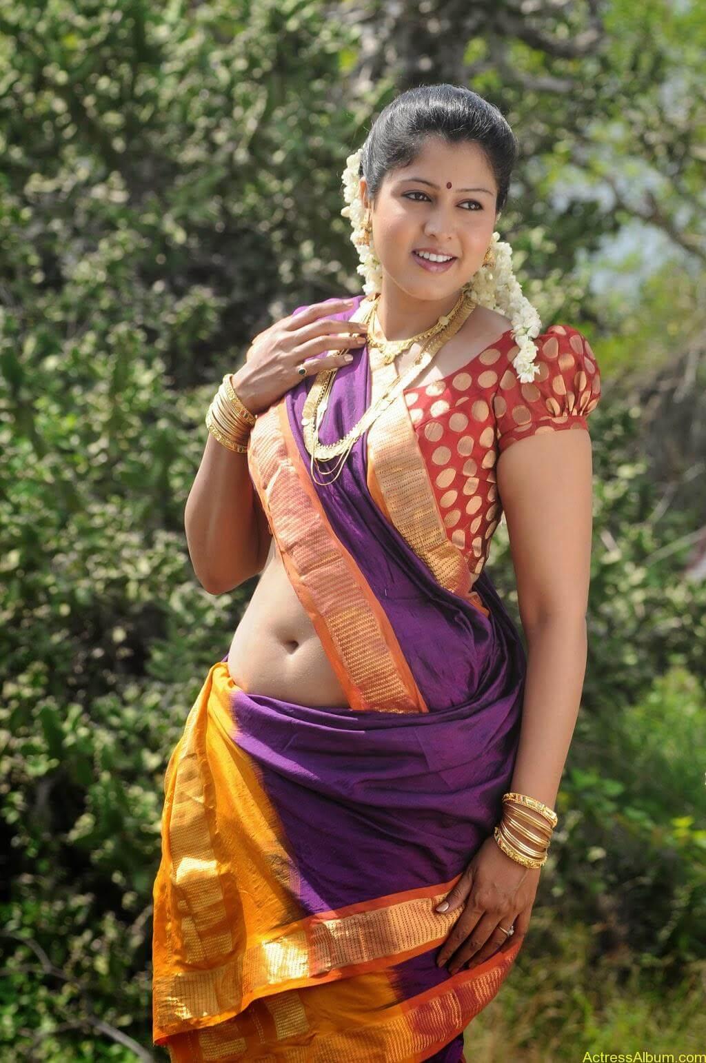South Indian Actress Hot Saree Navel Photos 4