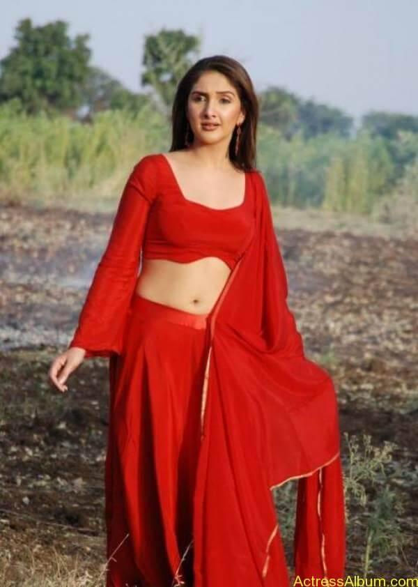 Sridevi-Hot-Armpit-Red-Dress-Navel-Showing-0