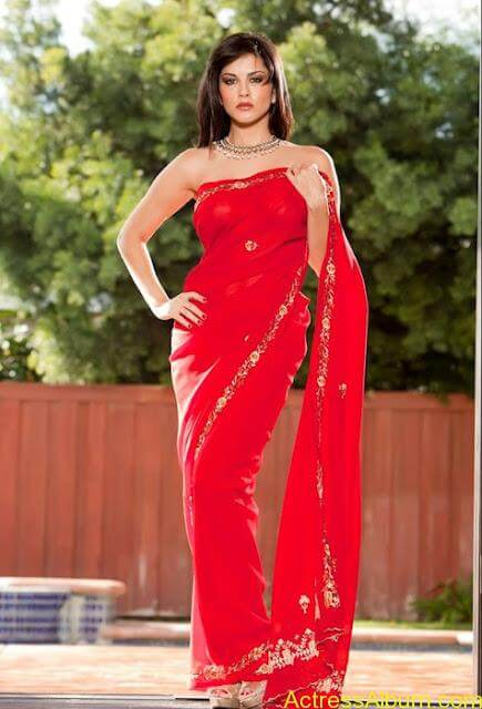 Sunny_Leone_in_Red_Saree_Hot_Sexy_Pics_0010