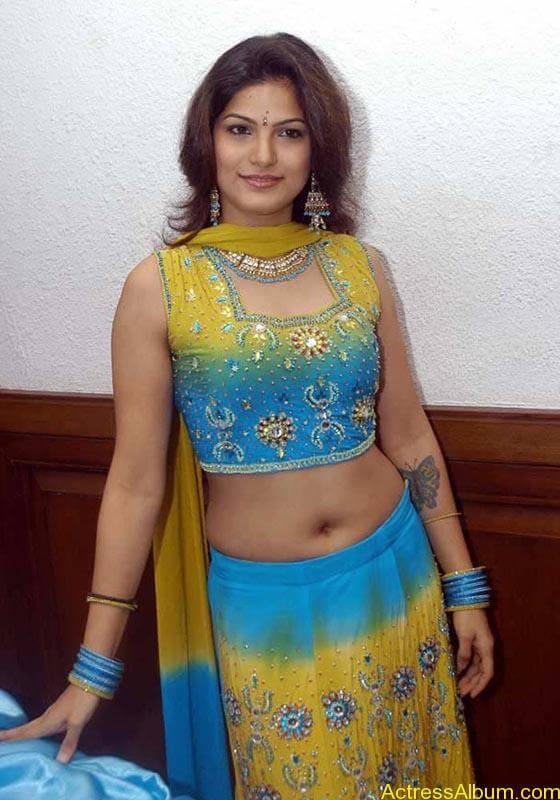Tharika Hot navel show1