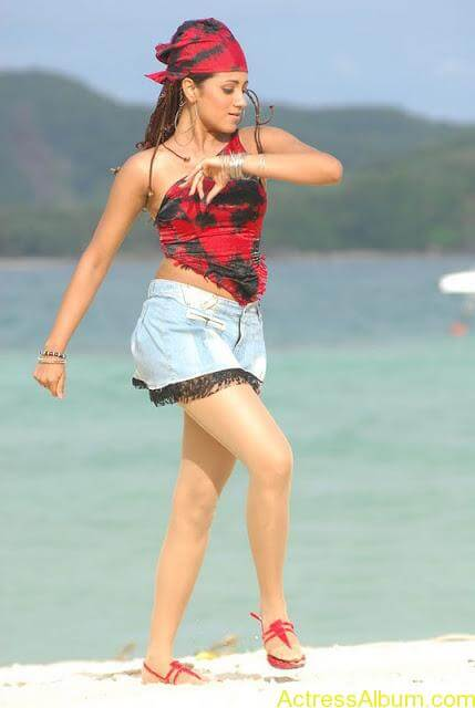 Trisha Hot Thigh Show (3)