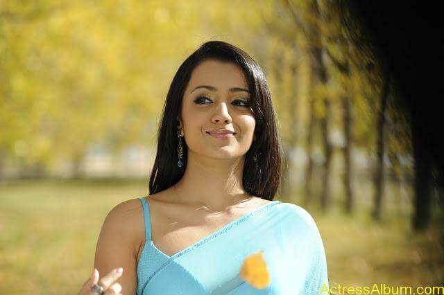 Trisha-In-Blue-Saree-Stills-From-BodyGuard (5)