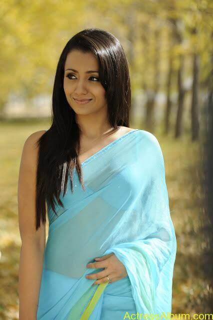 trisha_sensious_hot_stills_in_blue_dress_photos (3)