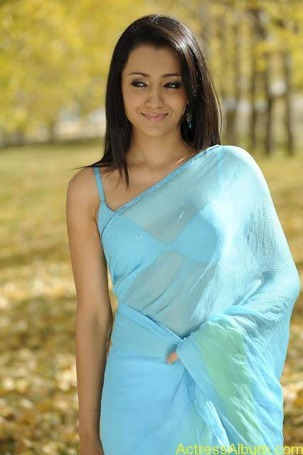 trisha_sensious_hot_stills_in_blue_dress_photos (7)