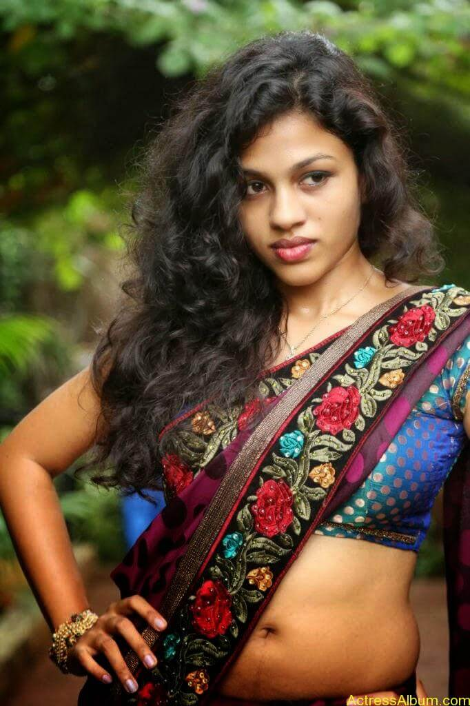 Actress Chaitra Exposing Navel Show5