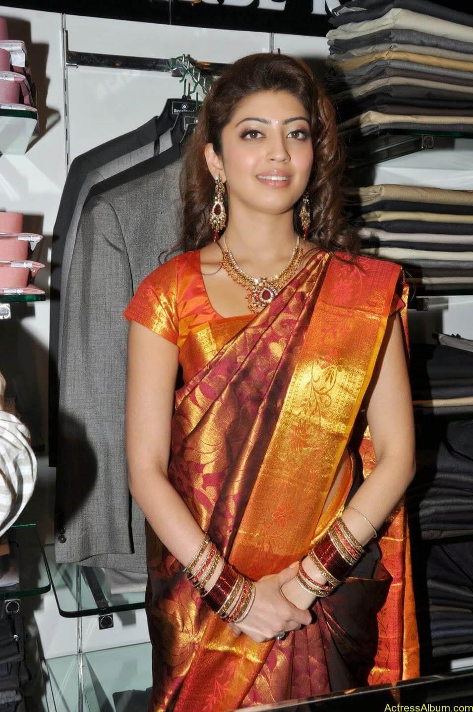 Actress Pranitha Hot stills in saree 1