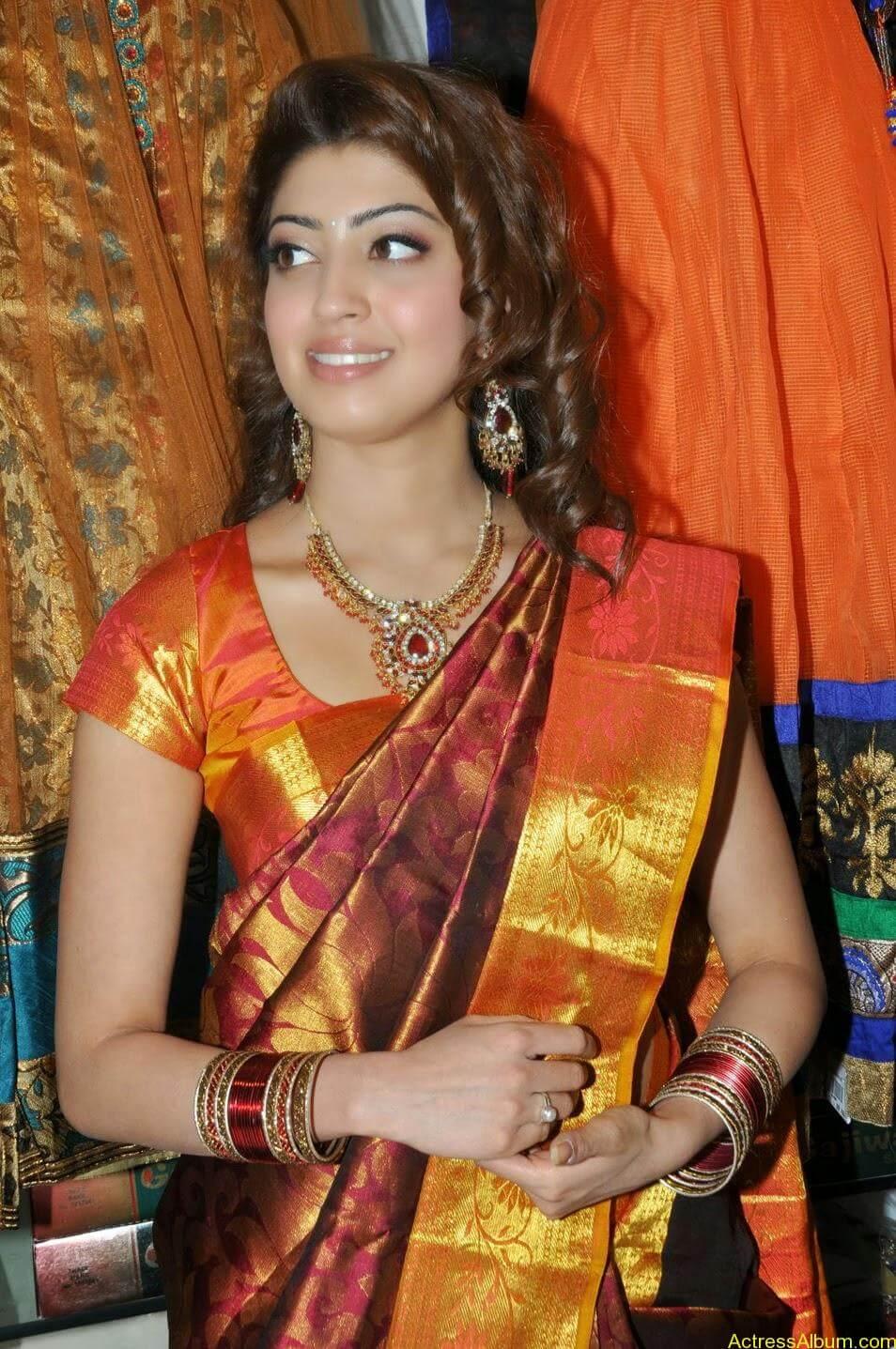 Actress Pranitha Hot stills in saree 4