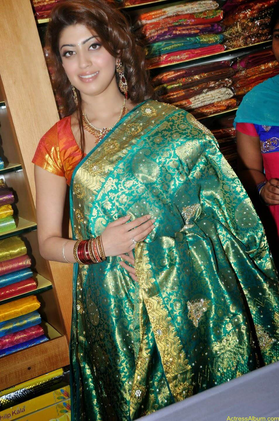 Actress Pranitha Hot stills in saree 5