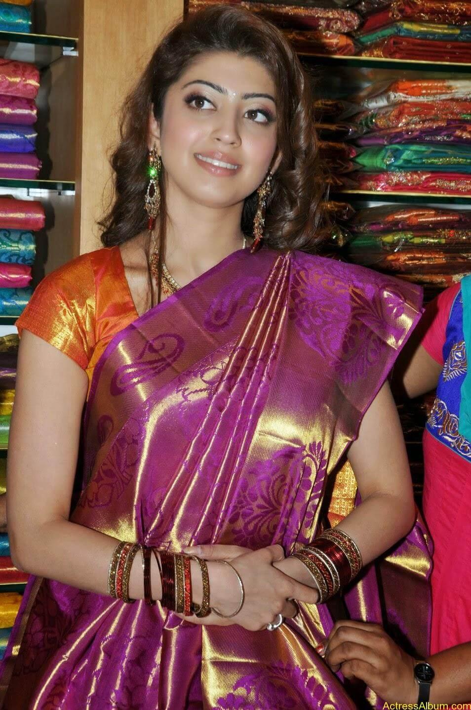 Actress Pranitha Hot stills in saree 6