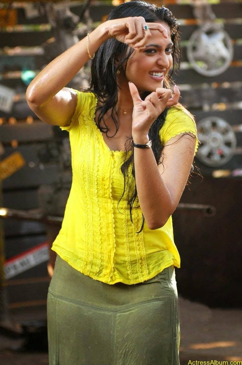 Anushka Hot In Yellow Dress (13)