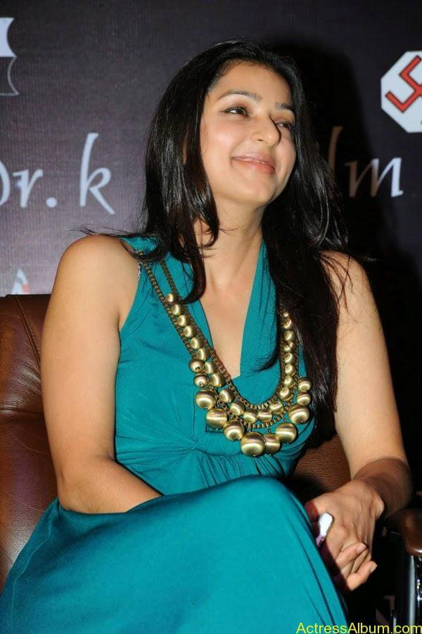 Bhumika Latest Stills in Blue Sleeveless Dress