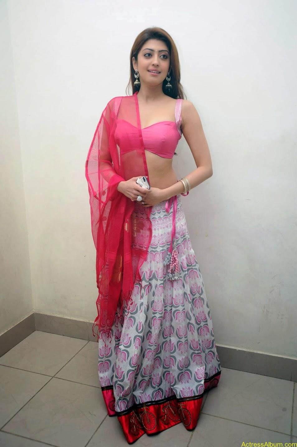 Heroine Pranitha Hot in Pink Dress 1