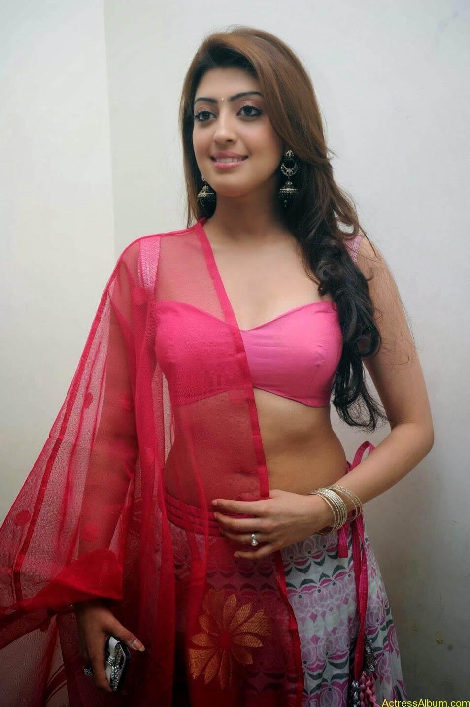 Heroine Pranitha Hot in Pink Dress 5