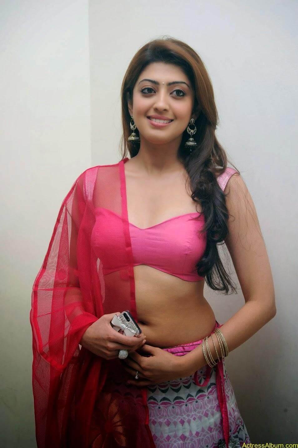 Heroine Pranitha Hot in Pink Dress 7