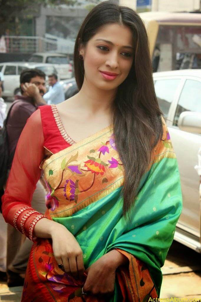 Lakshmi Rai Stunning Photoshoot In Saree (5)
